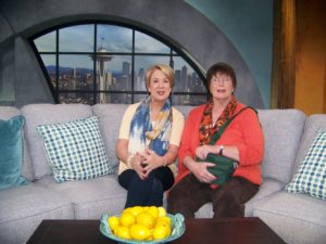Margaret Larson and Kris on NEW DAY Set